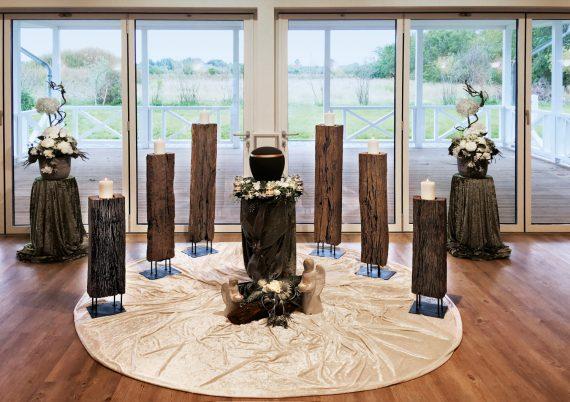 Trauersaal im Bestattungshaus Hansen in Wanderup